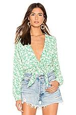 Capulet Daria Bodysuit in Apple Green Floral