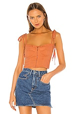 Capulet Rian Bustier Top in Chai