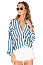 Capulet Luca Boyfriend Shirt in Blue Stripe
