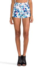 Cali High Waisted Short in Blue Floral