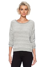 Streaky Chenile Sweater in Heather Grey
