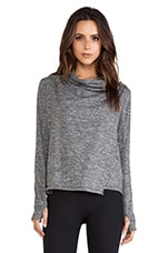 C&C California Shape Wrap Jacket in Charcoal Heather