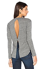 Padma Long Sleeve Tee in Salt & Pepper