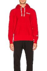 Champion Hooded Sweatshirt in Red