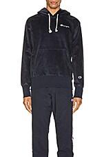 Champion Reverse Weave Corduroy Hooded Sweatshirt in Navy