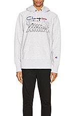 Champion Reverse Weave Centenary Hooded Sweatshirt in Oxford Gray