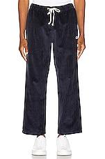 Champion Reverse Weave Corduroy Straight Hem Pant in Navy