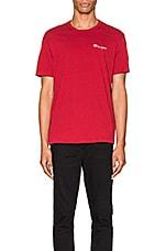 Champion Reverse Weave Small Script T-Shirt in Scarlet