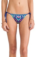 Tropicalia Tie Side Bikini Bottoms in Blue Print