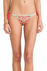 Tropicalia Tie Side Bikini Bottoms in Pink Multi