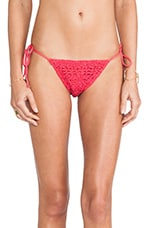 Croche T Side Bikini Bottoms in Pink