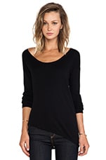 Syracuse Asymmetric Hem Sweater in Black