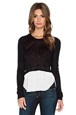 Lisbon Crop Sweater in Black & White