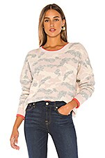 Central Park West Brussels Pullover Sweater in Blush Combo