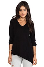 Asymmetrical Casper Sweater in Black