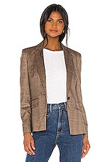 Central Park West Finley Sweater Dickey Blazer in Brown