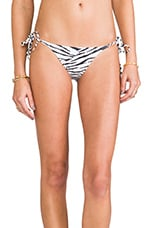 Charlie String Bikini Bottom in Zebra