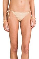 Charlie String Bikini Bottoms in Deco Foil