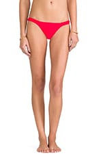 Jerry Banded Bikini Bottoms in Lipstick