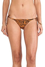 Charlie String Bikini Bottoms in Cheetah & Tiger