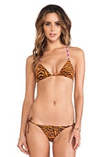 Charlie by Matthew Zink Adrianna Triangle Top in Tiger Wave Multi