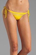 String Bottom in Grecian Foil/ Yellow