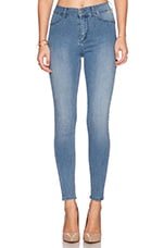 Spray On High Rise Skinny in Light Blue