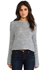 Cher Sweater in Grey Melange