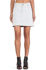 Dent Denim Skirt in White Inverted