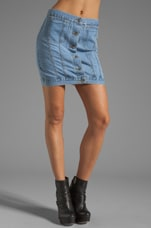 Tracey Denim Skirt in Light Trash