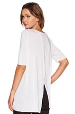 Enfold Top in White