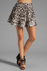 Swing Skirt in Leopard Print
