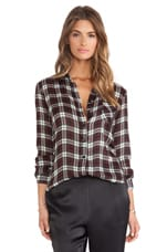 Long Sleeve Workshirt in Red Plaid