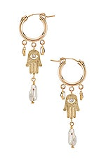 Child of Wild Guardian Earrings in Gold