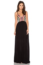 Wish you Were Here Dress in Black & Multi