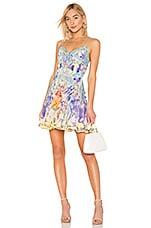 Camilla Tie Front Mini Dress in Girl In The Kimono
