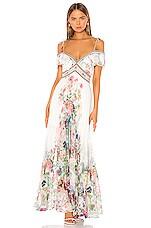Camilla Pleated Dress in Jardin Postcards