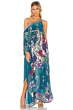 Camilla One Shoulder Kaftan in Lunar Gazing