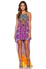 Camilla Short Sheer Overlay Dress in Horizon Daze