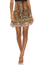 Camilla Layered Frill Skirt in Wild Azal