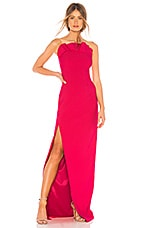 Cinq a Sept Ruffle Dress in Camilla Red
