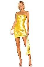 Cinq a Sept Satin Ryder Dress in Lemon