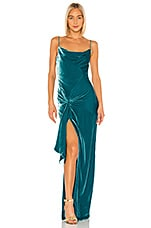 Cinq a Sept Renee Gown in Pacific Blue
