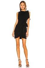 Cinq a Sept Mini Nanon Dress in Black