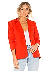 Cinq a Sept Military Twill Khloe Blazer in Paprika