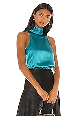 Cinq a Sept Jazlyn Top in Pacific Blue