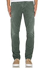 Premium Vintage Utility Straight Pant in Army Green