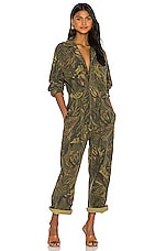 Citizens of Humanity Shay Easy Side Button Jumpsuit in Botanica Print