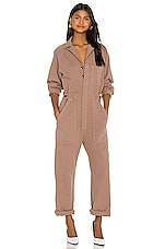 Citizens of Humanity Shay Easy Side Button Jumpsuit in Redwood
