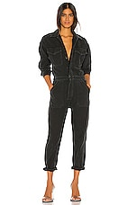 Citizens of Humanity Marta Jumpsuit in Washed Black